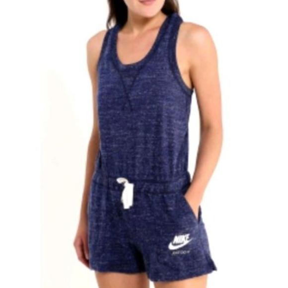 d40c42166b62 Nike Sportswear Vintage Gym Romper Size XL Navy